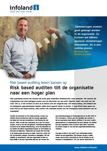 Risk based auditing levert kansen op